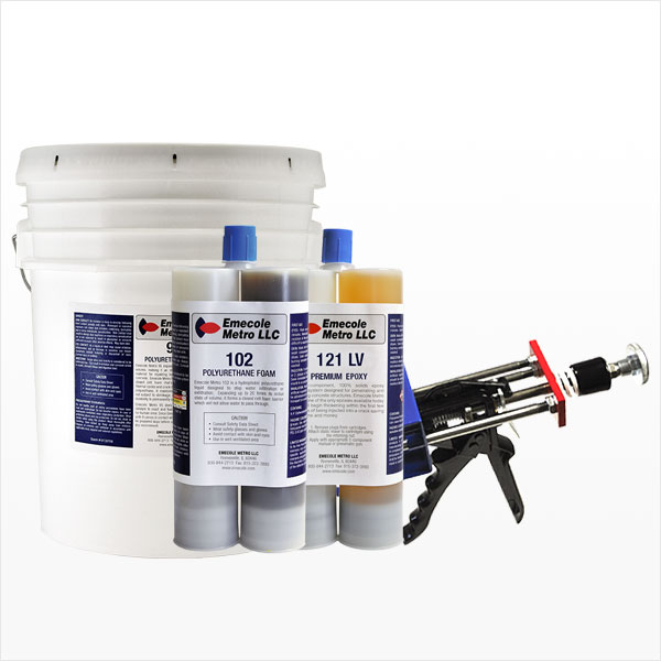 Poured Foundation Crack Repair Products