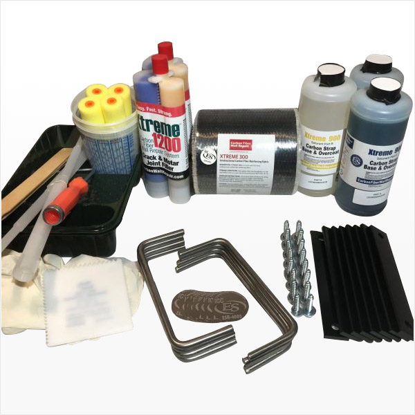 Carbon Fiber Fabric Strap Wall Repair Kit
