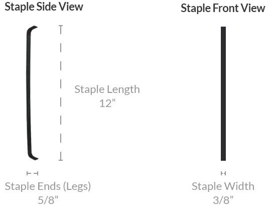 Carbon Fiber Staple Dimensions for Structural Foundation Crack Repair
