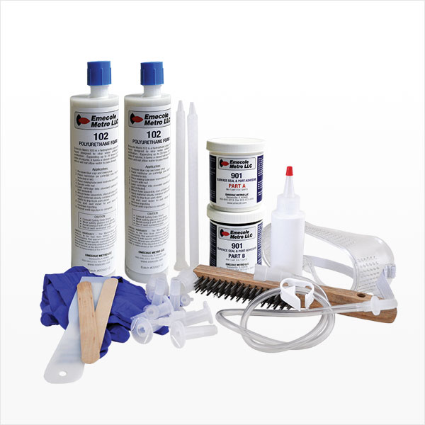 10 ft. Foundation Crack Repair Kit - Polyurethane Injection