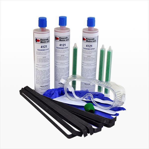 Carbon Fiber Staple Structural Wall Crack Repair Kit - 10 Staples, Universal Cartridge Epoxy