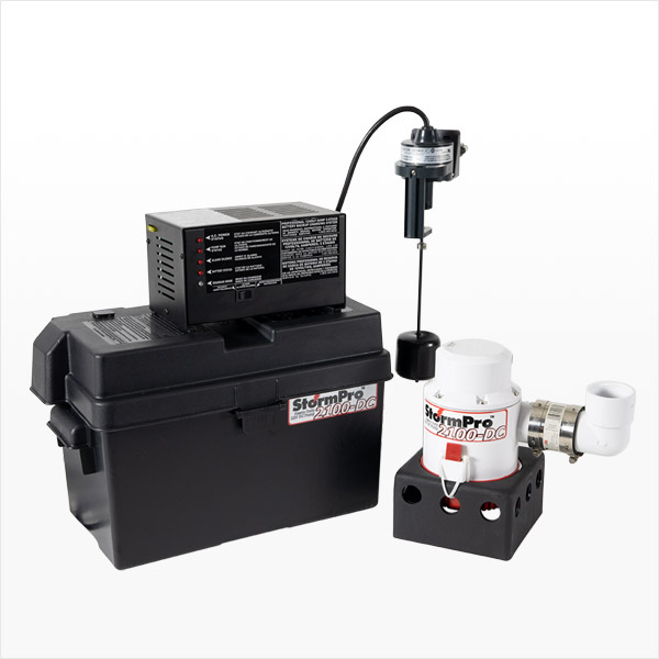 Battery Backup Sump Pump System StormPro 2100-DC