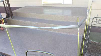 Concrete Stairs Epoxy Overlay