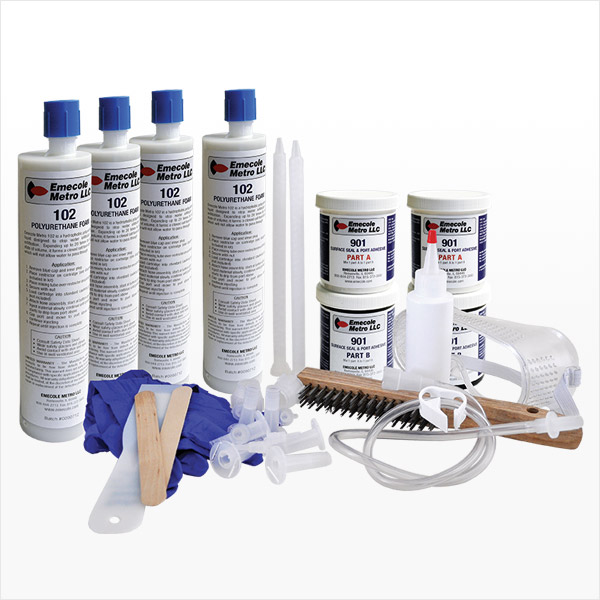 20 ft. Basement Wall Crack Repair Kit with Polyurethane