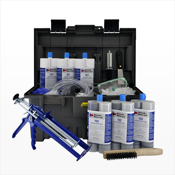 30 ft. DIY Foundation Crack Repair Polyurethane Injection Kit