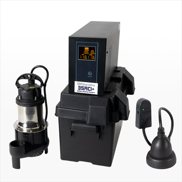 Battery Backup Sump Pump System 35ACi+ by Ion Technologies