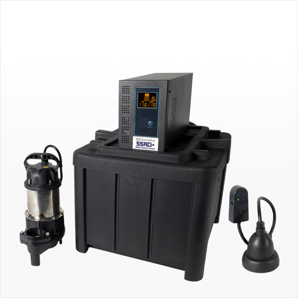 Battery Backup Sump Pump System 55ACi+ by Ion Technologies