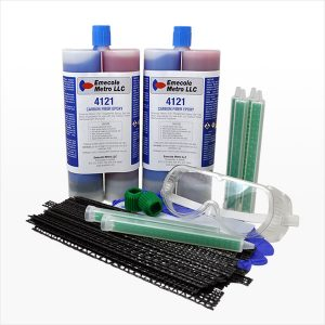 Structural Crack Reinforcement Carbon Fiber Grid Stitches - 30 Pack with Dual Cartridge Epoxy