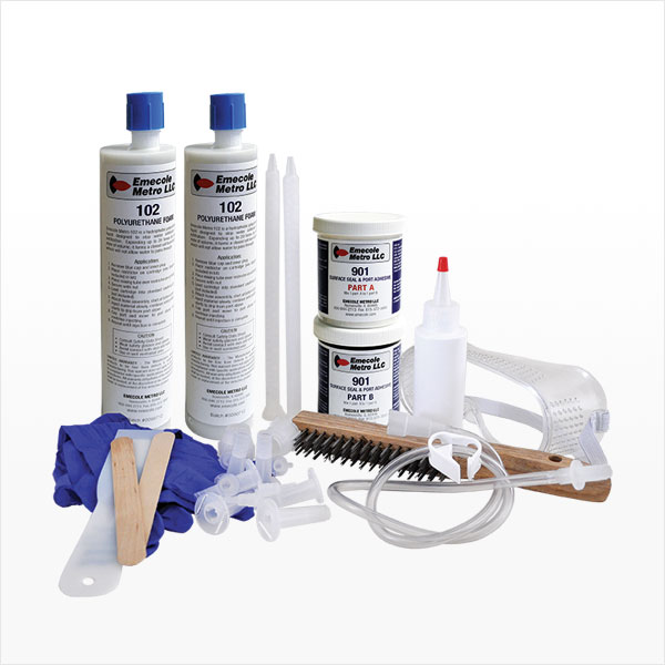 D-I-Y Kit for Repairing Basement Wall Cracks