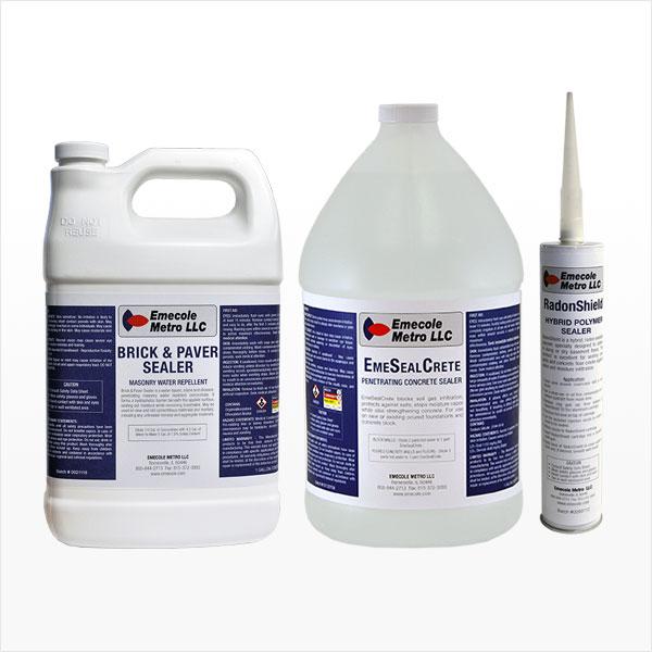 Concrete, Brick and Cove Sealing Products