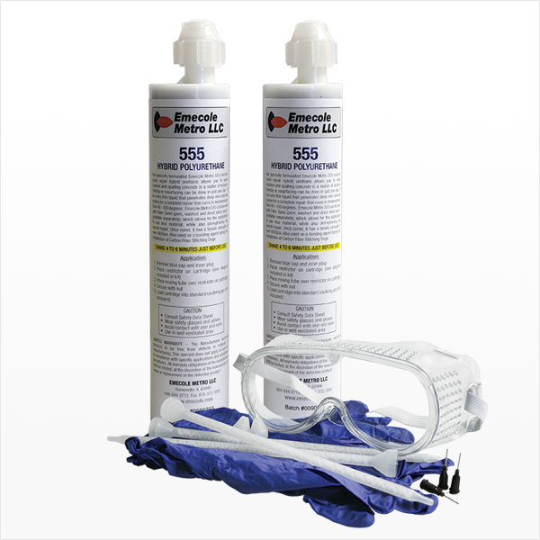Kit for D-I-Y Repair of Cracks in Basement Floors