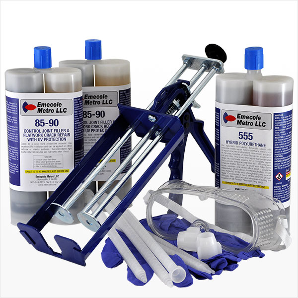 Large-Sized Slab Crack Repair Kit for Outdoor Applications