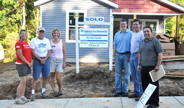 Lou Cole, President of Emecle, Habitat for Humanity Project Site