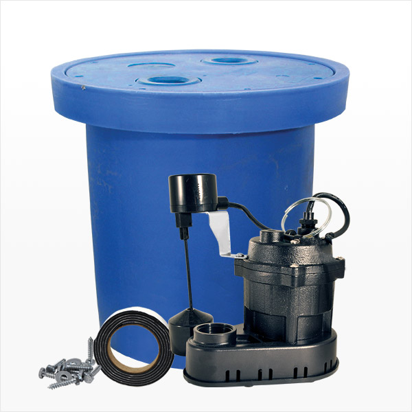 Crawl Space Sump Pit and Pump Kit