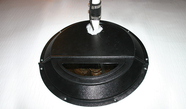 Encapsulated Crawl Space with Sump Pit Lid Donut Installation